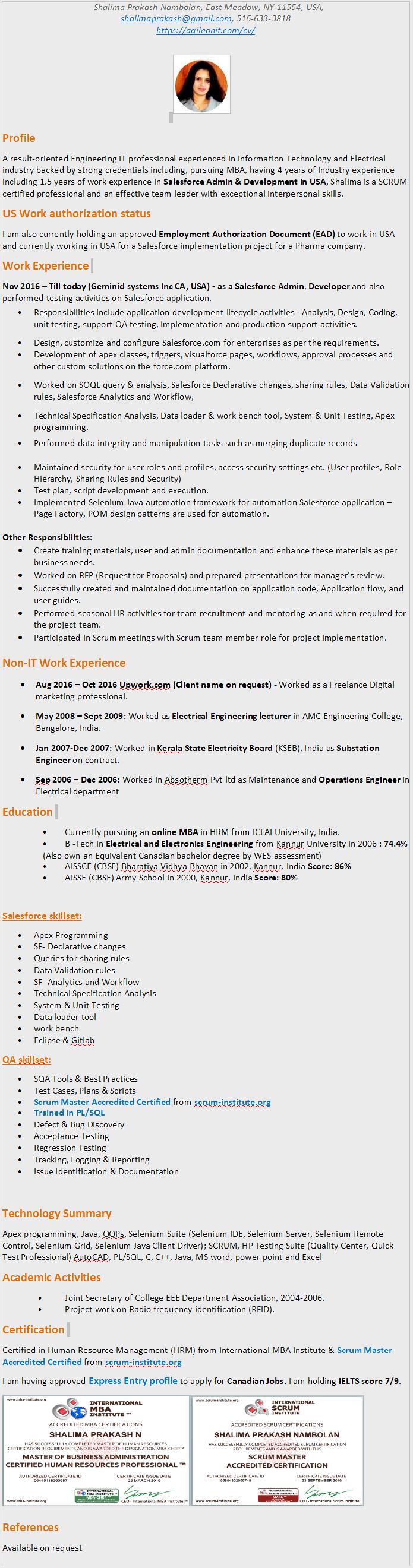 cv | Blog | Internet tricks | Automation testing Framework ...